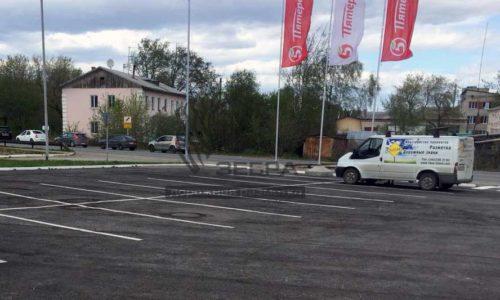 Разметка парковки краской
